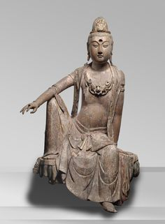 Bodhisattva of Compassion (Guanyin) Made in Guanyintang, Henan Province, China Period: Yuan Dynasty (1271-1368)