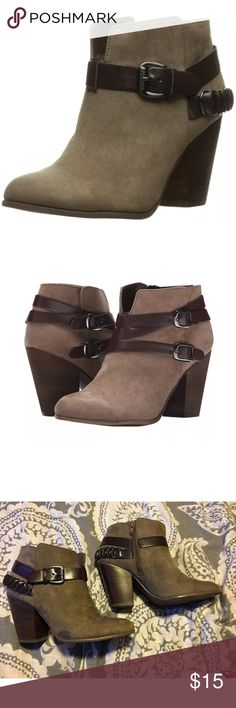 """Carlos Santana """"Macomb"""" Ankle Boots Brown suede ankle boots!!! Perfect for and occasion and season. Gently worn other than two small water spots(last two pics) that can come off with suede cleaner. Other than not it's not noticeable when wearing Carlos Santana Shoes Ankle Boots & Booties"""