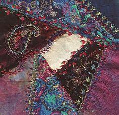 Velvet Crazy Quilt   CQ blocks / I crazy quilting & embroidery . . . This little crazy ...