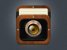 Old Camera iOS App Icon #appicons #mobileappicons #iosaappicons #iosicons