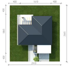 Projekt domu Homekoncept-27 - Novio.pl House Plans, Sweet Home, Projects To Try, How To Plan, Contemporary Houses, Dns, Type 1, Model, Villa