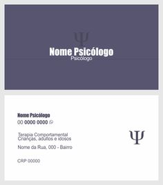 Cartão de visita psicologia 4 Graphic Design, Visual Identity, Therapy, Visual Communication