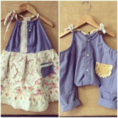 Brother & sister coordinating upcycled outfits  Www.bohobabyboutique@gmail.com
