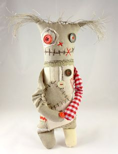 One of a kind handmade monster toy, original gift. He is a cute and friendly monster, great friend for every child a bit afraid of monsters - this one is