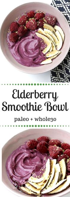 Elderberry Smoothie Bowl with Elderberry Crystals + Q+A with Dr. Niki Nephin, ND | From Pasta to Paleo | #paleo #elderberry #whole30