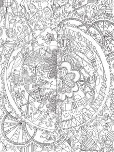 KALEIDOSCOPE doodle art colouring poster: This was uploaded by ...
