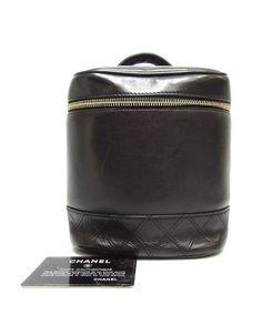af5c530ee33d Chanel Vintage CC Logo Quilted Vanity Bag