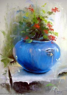 Breton Michel - Bouquet of Peonies Soft Pastel Art, Pastel Drawing, Flower Canvas, Flower Art, Pinturas Color Pastel, Boat Art, Still Life Art, Chalk Pastels, Colorful Paintings