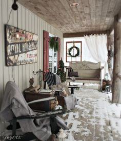 Christmas 2014 ~ Rustic Porch - Vin'yet Etc.