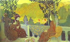 Self-Portrait with his Family in Front of Their House - Maurice Denis - WikiPaintings.org