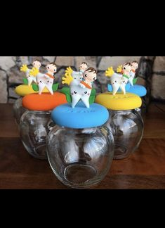First Tooth, Clay Tutorials, Snow Globes, Party Favors, Teeth, Jar, Business, Decor, Decoration