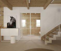 Drewniany minimalistyczny dom   Proj: Elementy   IH - Internity Home Stairs, House, Home Decor, Stairway, Decoration Home, Home, Room Decor, Staircases, Home Interior Design