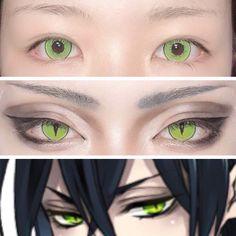 Anime Eye Makeup, Anime Cosplay Makeup, Edgy Makeup, Eye Makeup Art, Anime Eyes, Cute Makeup, Makeup Inspo, Makeup Eyes, Lolita Makeup