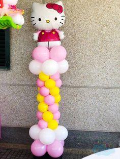 Hello Kitty, Columns, Cake, Desserts, Balloon Columns, Ideas, Pie Cake, Tailgate Desserts, Pastel