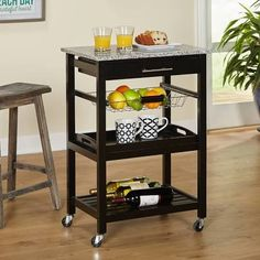small bar cart with storage - Google Search