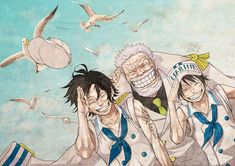 Monkey D. Luffy, Portgas D. Ace & Monkey D. Garp