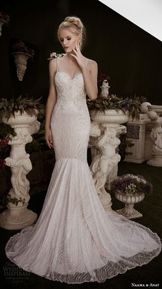 naama anat fall 2016 bridal dresses beautiful mermaid wedding dress fit flare trumpet spagetti strap sweetheart neckline beaded embroidery style admirable