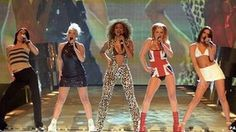 The Spice Girls performing at the Brit Awards in 1997