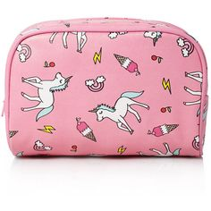 Forever 21 Unicorn Print Makeup Bag (£3.78) ❤ liked on Polyvore