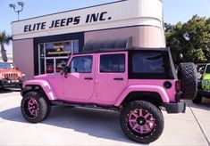 Jeep Wrangler Unlimited, Jeep Wrangler For Sale, Wrangler Truck, Jeep Cars, Jeep Truck, Jeep Jeep, Pink Rims, Convertible, Small Luxury Cars