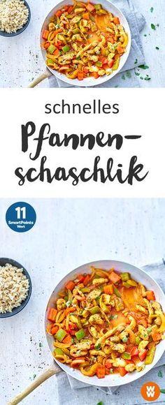 Schnell, einfach und lecker: Pfannenschaschlik; Hauptgericht, Mittagsessen, Abendessen, Rezept | Weight Watchers