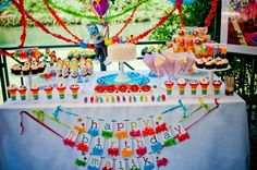 This is officially one of my all time favorite themed dessert tables!  Someone please do a muppet them #modernjewishmitzvah