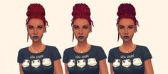 "shespeakssimlish:  "" Can't have too many buns haha.  BGC 