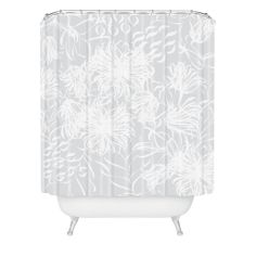 Vy La Calm Breezy Grey Shower Curtain | DENY Designs Home Accessories