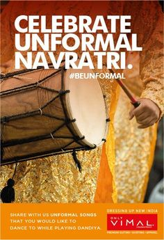 Liberated freedom of a dance festival is on ,Send us photos of the #Unformal song you would like to dance to while playing Dandiya. #Beunformal