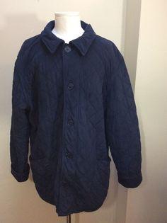 68586be06b92 Men s Barbour Navy Blue Polar Quilt Classic Country Quilt Coat Jacket XXL  lined  Barbour