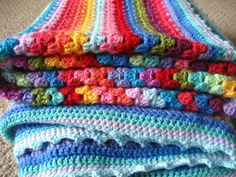 Granny Stripe Blanket- getting the bug to crochet again. Another easy one t do... or 2... Looking for my hooks today !