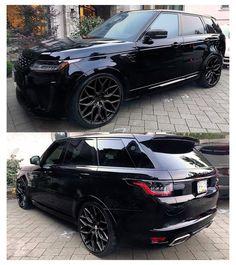 Suv Range Rover, Range Rover Sport Black, Landrover Range Rover, Land Rover Sport, Best Luxury Cars, Luxury Suv, Range Rover Supercharged, Lux Cars, Cars Usa