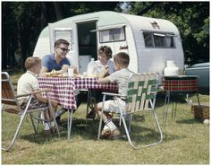 indypendent-thinking:  Family Picnicking with camper 1950's Photo H.Armstrong Roberts