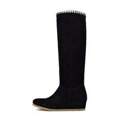 Qué zapatos de mujer de invierno comprar en rebajas: Botas altas en piel