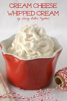 Cream Cheese Whipped Cream - Light, fluffy, and delicious! I used it for carrot cake. It's not as sickly sweet as the usual kind of cream cheese frosting people use on it. Just Desserts, Delicious Desserts, Dessert Recipes, Yummy Food, Cupcakes, Cupcake Cakes, Icing Recipe, Frosting Recipes, Pudding Frosting