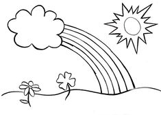 Rainbows Coloring Sheets coloring pages printables rainbows free printable rainbow Rainbows Coloring Sheets. Here is Rainbows Coloring Sheets for you. Rainbows Coloring Sheets hello kitty rainbow coloring page free printable coloring. Spring Coloring Pages, Easy Coloring Pages, Flower Coloring Pages, Coloring Pages To Print, Free Printable Coloring Pages, Coloring Book, Printable Worksheets, Flower Drawing For Kids, Toddler Drawing