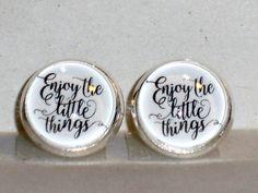 Ohrstecker - Ohrstecker Enjoy Ohrringe Valentinstaggeschenk - ein Designerstück von ausgefallene-Ohrringe bei DaWanda