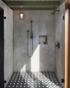 97 Most Popular Bathroom Shower Makeover Design Ideas, Tips to Remodeling It Cibuta West Lafayette Contemporary Shower Remodel 3 Concrete Shower, Concrete Bathroom, Concrete Cement, Polished Concrete Tiles, Cement Walls, Bad Inspiration, Bathroom Inspiration, Ideas Baños, Decor Ideas