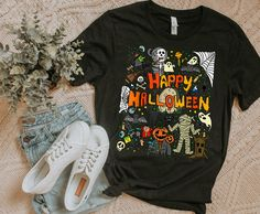 Happy Halloween Shirt Scary Retro Boys Girls Kids TShirt | Etsy