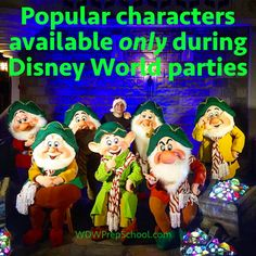 Special event character meets at WDW