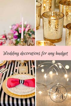 Wedding decorations by KnotAndNestDesigns