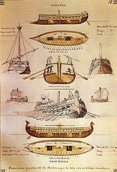 Plano de un barco fenicio