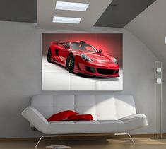 Fancy the ultimate bachelor pad? Hang this Giant #Porsche Carrera GT and your flat will be transformed. Click for more details... #ebay #spon