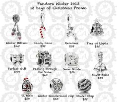 Christmas charms and clips