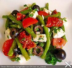 Bohnensalat griechisch, ein leckeres Rezept aus der Kategorie Schnell und einfach. Bewertungen: 34. Durchschnitt: Ø 4,1.