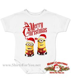 Christmas Minions Baby Onesie