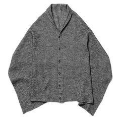 Engineered Garments Button Shawl - Herringbone Jersey