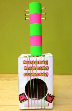 DIY de guitare en carton simple