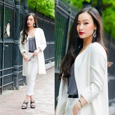 Get this look: http://lb.nu/look/5088576  More looks by Levi Nguyen: http://lb.nu/tlnique  Items in this look:  Zara Coat, Cornwall Street Earrings   #whiteout