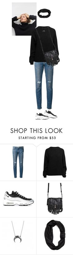 """""""#167"""" by ceciliefang ❤ liked on Polyvore featuring Frame Denim, Acne Studios, NIKE, Proenza Schouler and Jennifer Behr"""